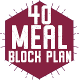 40 Meal Block Plan $355.00