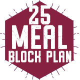 25 Meal Block Plan $230.00